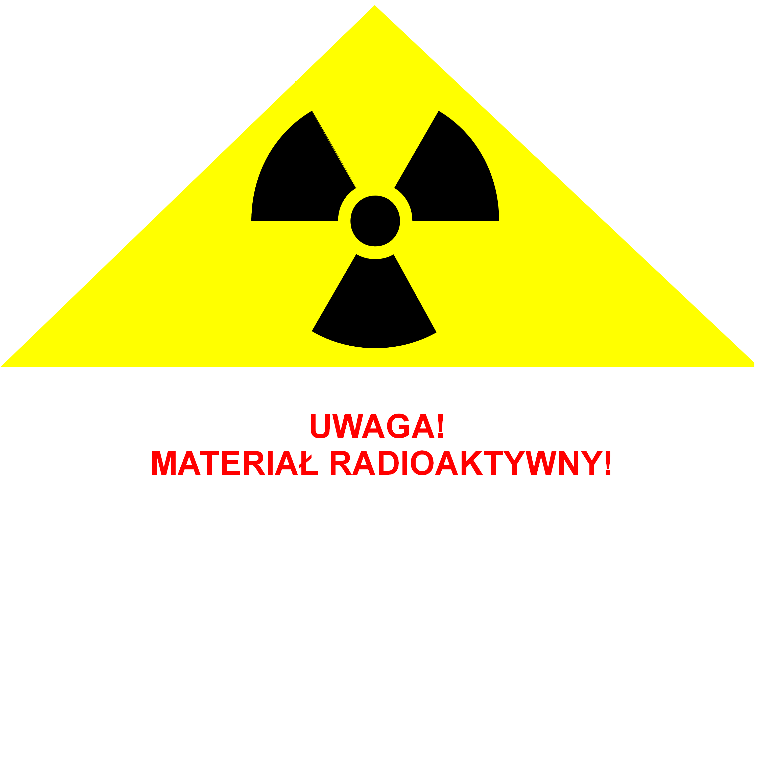 International sign warning of ionizing radiation